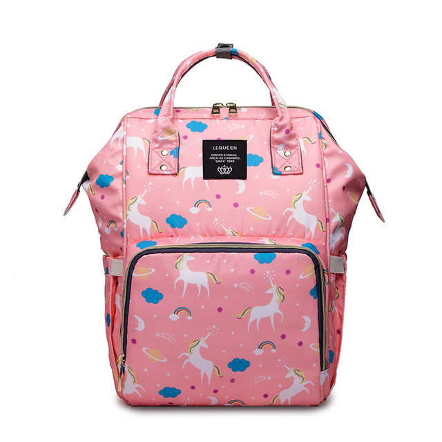 4 Colors Mommy Maternity Diaper Bag Wet Large Unicorn Baby Ny Travel Backpack Toddler Roller