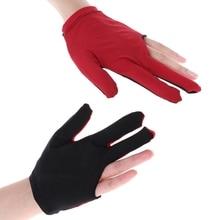 Lycra Fabric Snooker Billiard Cue Glove Pool Left Hand Three Finger Accessories