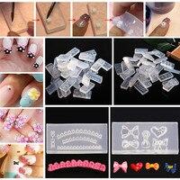 30 cái/bộ Mix Design DIY 3D Silicone Nail Art Templates Kit Acrylic Cabochon Khuôn Set Làm Móng Tay Trang Trí Công Cụ Cabochon Khuôn b