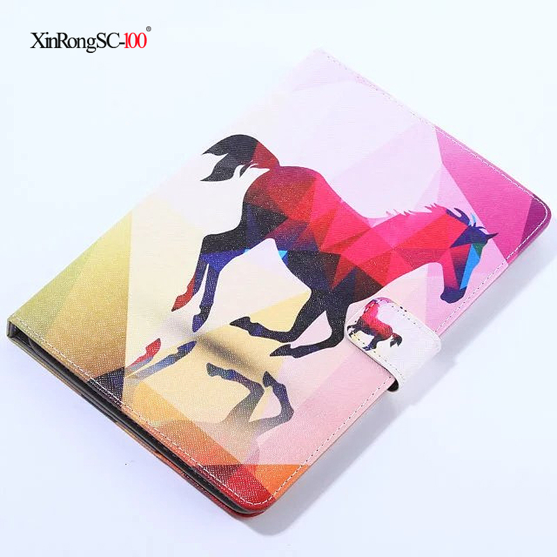 """For 10 inch Android Tablet Universal 9.7""""/10""""/ 10.1""""/10.2 inch Tablet Universal Printed PU Leather Stand Cover Case"""