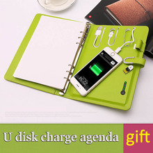 BK-201 student gifts agenda power bank multi-function planner student 2016 daily school diary 2017 u disk teacher gift