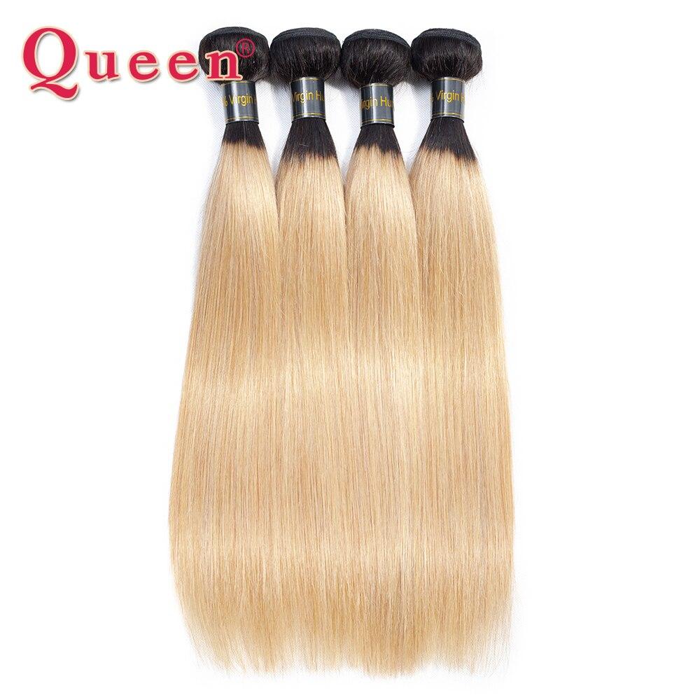 Queen Hair Products Straight Hair Bundles Peruvian 2 Tone 1B 27 Blonde 1 3 4 PCS