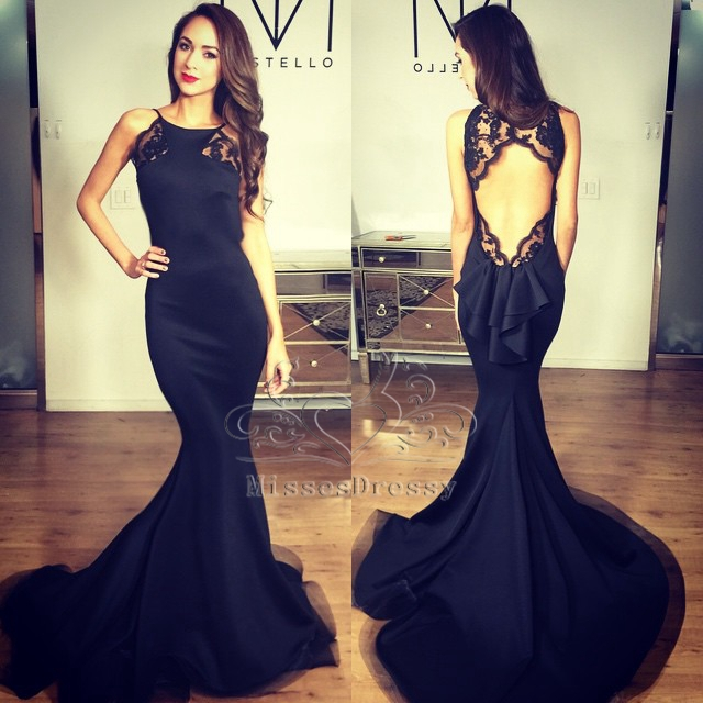 Compare Prices on Sexy Black Mermaid Prom Dresses 2015 Long ...