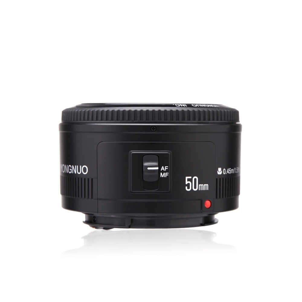YONGNUO YN50mm f1.8 YN EF 50mm f/1.8 soczewki af YN50 przysłony obiektyw z automatyczną regulacją ostrości W/ND filtr do aparatów canon EOS 60D 70D 5D2 5D3 600D kamery