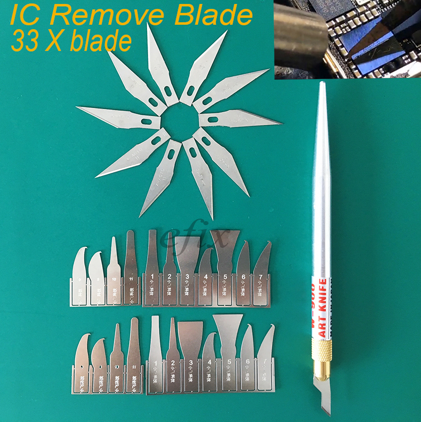 цена на Free Shipping Latest BGA Chip IC Knife Blade Remover Hand Tools Set for CPU Repair Removing iPhone NAND Flash Mainboard