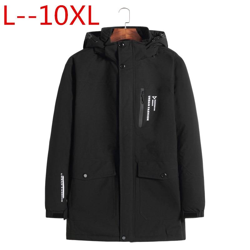 Grande taille 10XL 8XL 6XL 2018 nouvelle grande taille vêtements d'extérieur chauds veste d'hiver hommes coupe-vent PARKAS capuche marque vêtements grande taille 5XL 4XL
