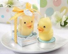 18 יח\חבילה טבילת תינוק מקלחת מתנה לחתונה יום הולדת לטובת נר ברווז קטן גומי חמודgift candlecandle plasticcandle gift