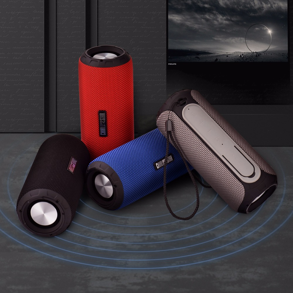 Outdoor Speaker Waterproof IPX6 12W Bluetooth Speakers Fabric Sports with Microphone for Iphone iPad Mobile Phone Climbing Yoga