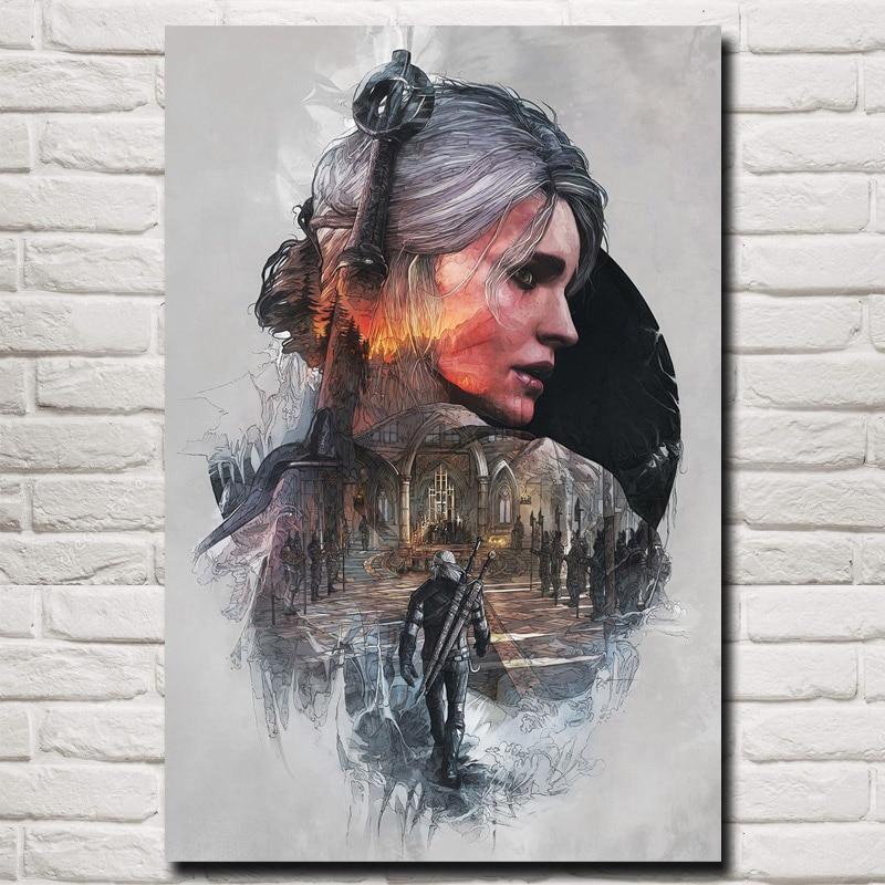 Wild Hunt Cirilla Fiona Elen Riannon Art Canvas Poster Prints Home Wall Decor Painting