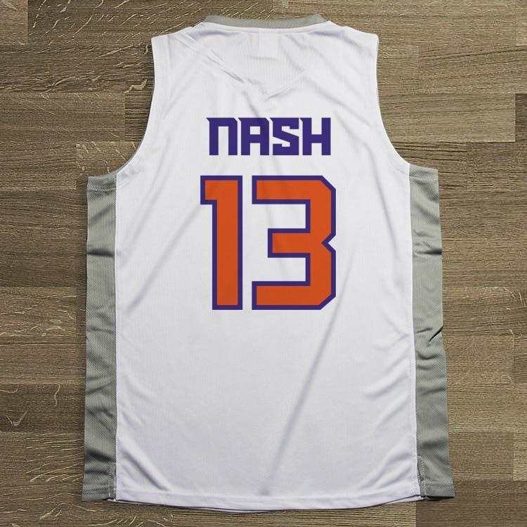 SYNSLOVEN design Men Basketball Jersey top Uniforms phoenix no.13 steve nash Sports clothing mesh Breathable plus size customize
