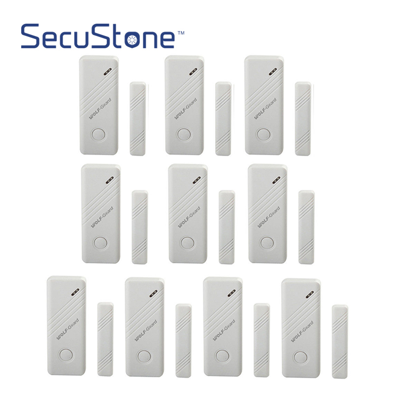 10 x Wireless White Door Window Sensor Magnet for Security Alarm System 433MHz forecum 433mhz wireless magnetic door window sensor alarm detector for rolling door and roller shutter home burglar alarm system
