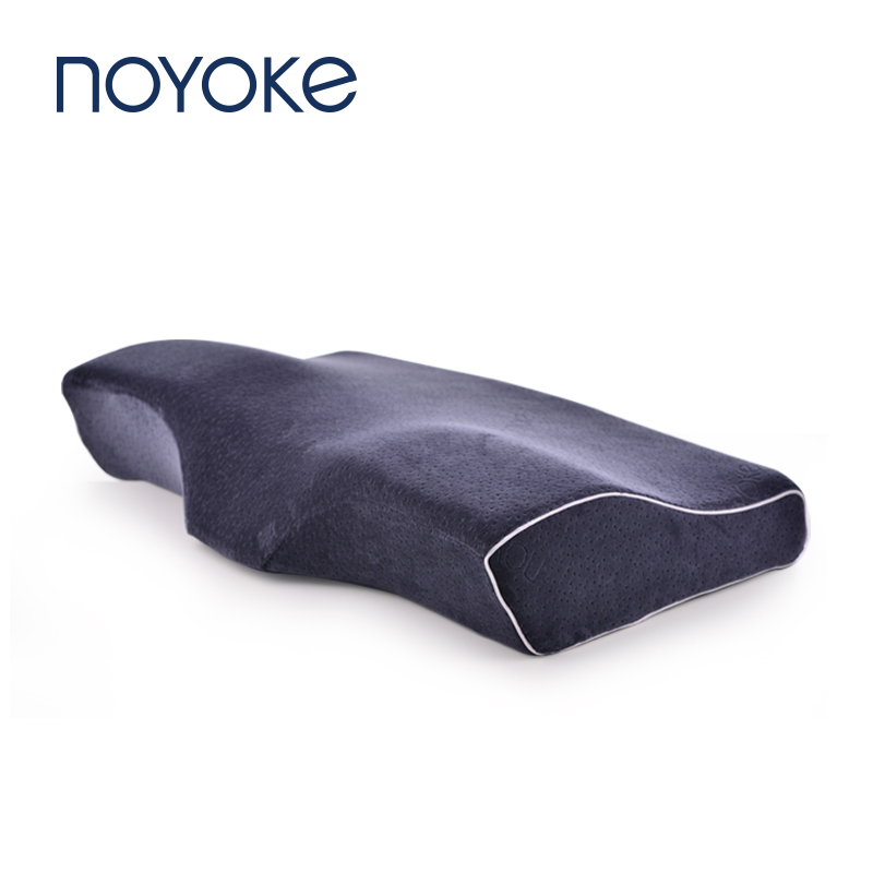 NOYOKE Memory Foam Pillow Slow Rebound Orthopedic Bed Pillow for Sleeping Eyelash Extension Pillow with Pillowcase