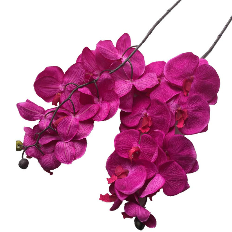 6pcs Moth Orchids Phalaenopsis Orchid Big Orchid Flower Head 10 heads Piece 4 Colors for Wedding Decorative Artificial Flowers in Artificial Dried Flowers from Home Garden