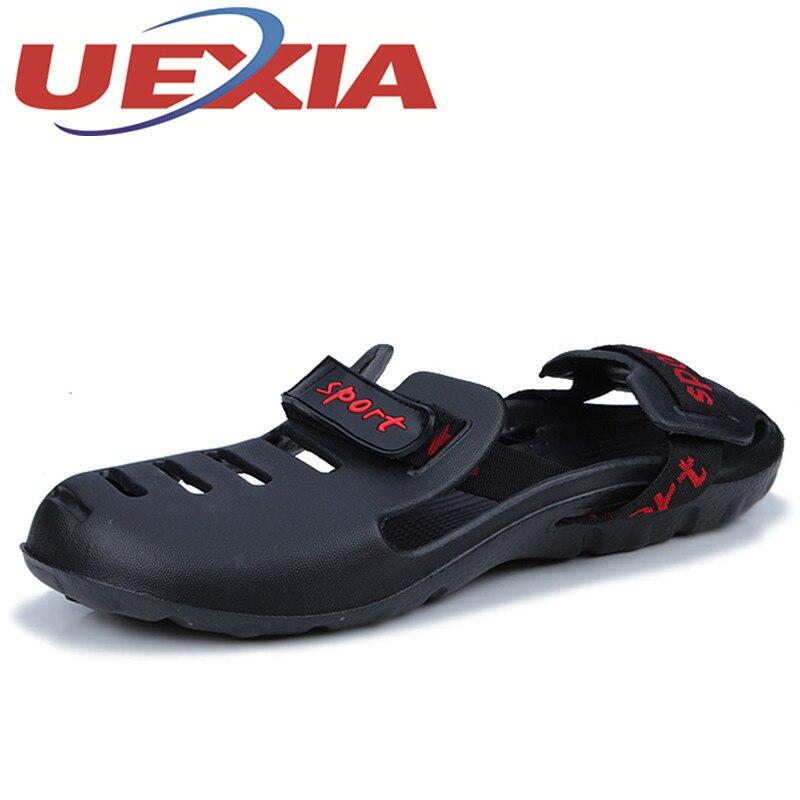 Big Size 45 Summer Shoes Men Sandals Outdoor Flat Slippers Mens Casual Beach Sandals Slippers Black Zapatillas Sandalias Hombre
