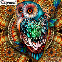 Dispaint Full Square/Round Drill 5D DIY Diamond Painting Animal owl scenery 3D Embroidery Cross Stitch Home Decor A10179
