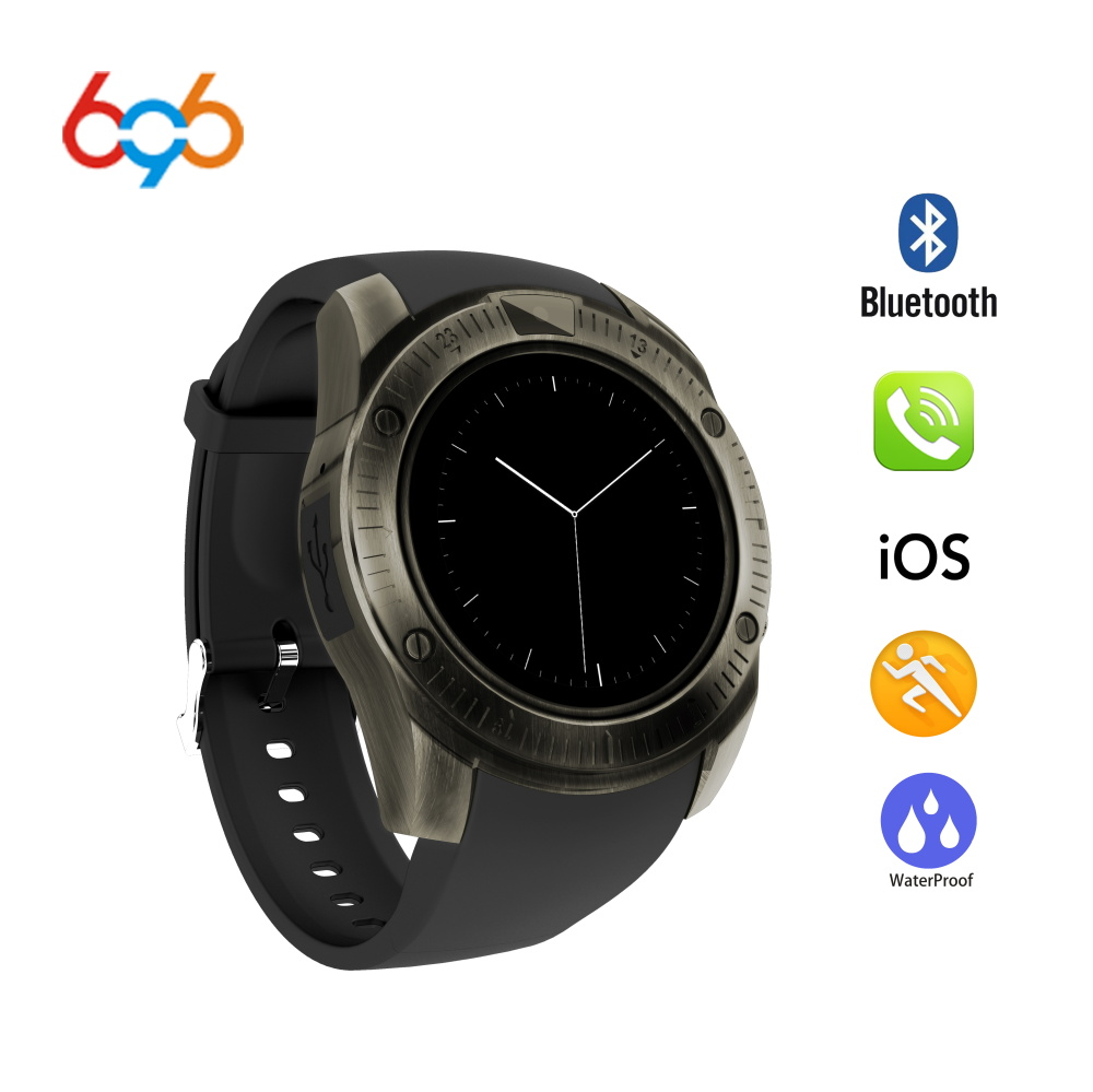 696 Newest Vintage Bluetooth Wrist Smart Watch KY003 For iPhone Android Phone Support SIM TF Card smartwatch Wristwatch PK Y1 умные часы smart watch y1