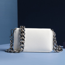 цена на Women leather bag small cell phone pocket genuine leather shoulder bags Italy cow leather luxury metal chain messenger lady bag