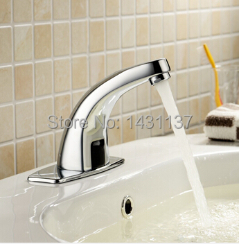 wholesale and retail  Brass Chromed  automatic sensor faucet for the bathroom sink faucet basin faucet