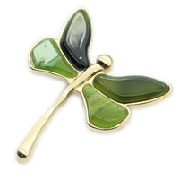 Vintage Jewelry Brooch Lapel Pin Rhinestone Pins Women Brooches Fashion Insect Broche Acrylic Dragonfly Large Scarf