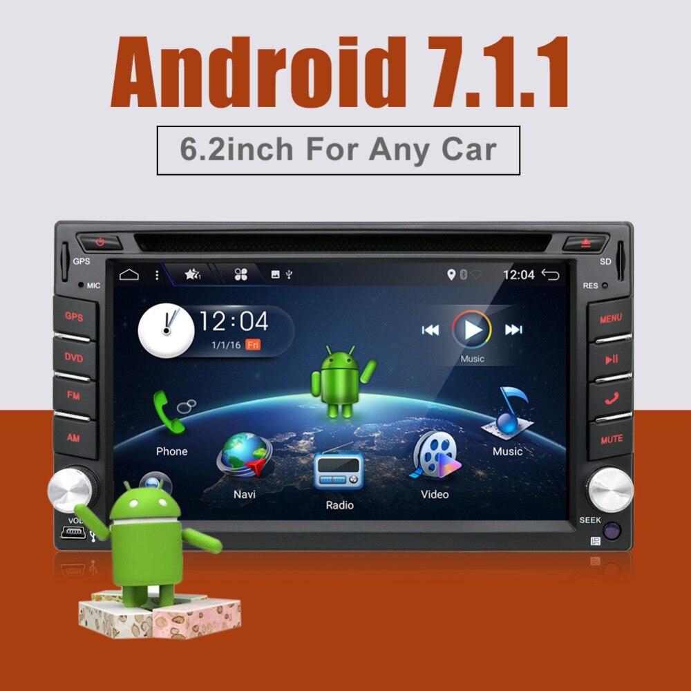 Bosion 4G LTE Universal 2 din GPS Car DVD Player Radio Android 7.1 Wifi Bluetooth GPS Navigation double din car multimedia joyous j 8619mx 6 2 toyota double din car radio dvd player w gps bluetooth aux