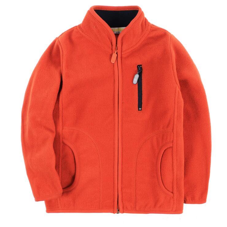 1 9Y New 2016 Spring Winter Fleece Boys Coat Mandarin Collar Full Sleeve Zipper Warm Kids