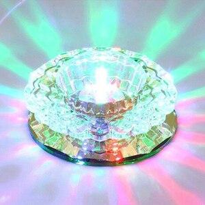 Image 5 - LAIMAIK kryształowe oświetlenie sufitowe 3W oświetlenie halowe AC90 260V lampka na ganek kryształowa lampa ledowa dynia LED sufitowe przejście światła korytarz