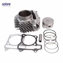 GOOFIT 63mm Big Bore Cylinder Piston Kit Assembly for GY6 180cc ATV Off-roadvehicle Q001-074 61mm gy6 152qmi 157qmj 125 150 180cc gp110 4 valve 4v valve big bore cylinder set