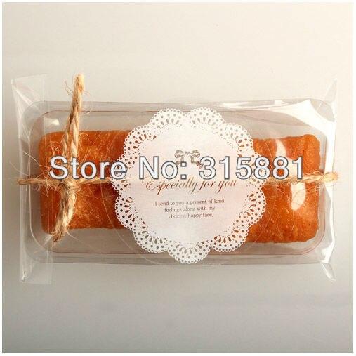 ПВХ белый цвет специально для Вас Уплотнения наклейки для подарка, маффинов, печенья, шоколада