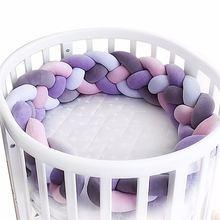Длина 300 см бампер для детской кроватки плетеная плюшевая подставка