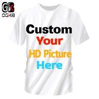 OGKB индивидуальные футболки летние топы для женщин/мужчин персонализированные пользовательские изображения футболки печать галактика про...