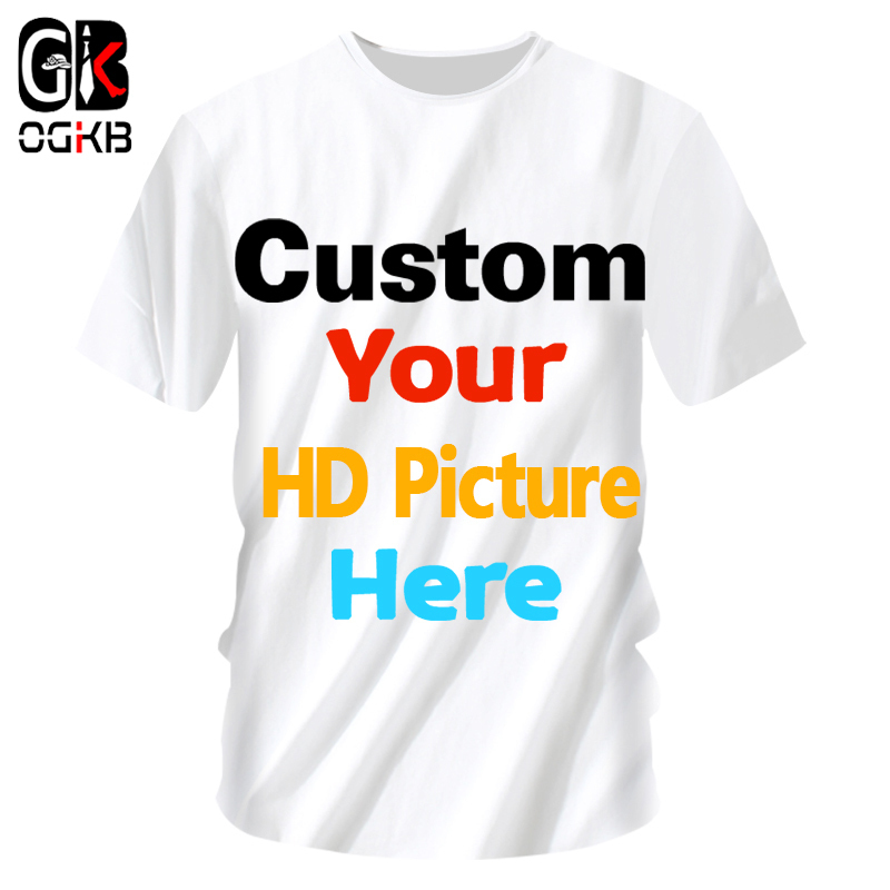 OGKB Customized   T     Shirts   Sumer Tops Women/men Personalized Custom Picture Tshirt Print Galaxy Space 3D   T  -  shirt   Man Casual Tees