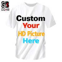 OGKB personnalisé t-shirts Sumer hauts femmes/hommes personnalisé photo T-shirt impression galaxie espace 3D T-shirt homme T-Shirts occasionnels