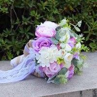 NZUK 2018 Purple Bridal Bouquet Brooch Crystal Rhinestone Flowers Wedding Bouquet For Brides Z617