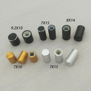 Aluminum 3.2mm square hole power switch button cap x200