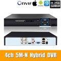 5M-N 5 em 1 4CH AHD/TVI/CVI/CVBS/IP de Segurança CCTV DVR gravador de vídeo P2P VGA HDMI para a câmera ip xmeye