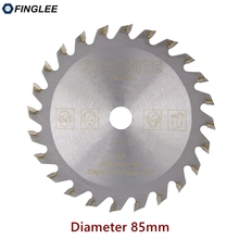 FINGLEE 1Pc 85mm TCT Houtbewerking Mini Cirkelzaag Blade Acryl Plastic Snijden Blade Algemene Purpose voor Hout