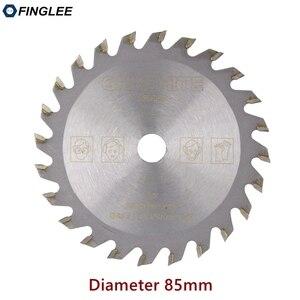 Image 1 - FINGLEE 1Pc 85mm TCT Houtbewerking Mini Cirkelzaag Blade Acryl Plastic Snijden Blade Algemene Purpose voor Hout