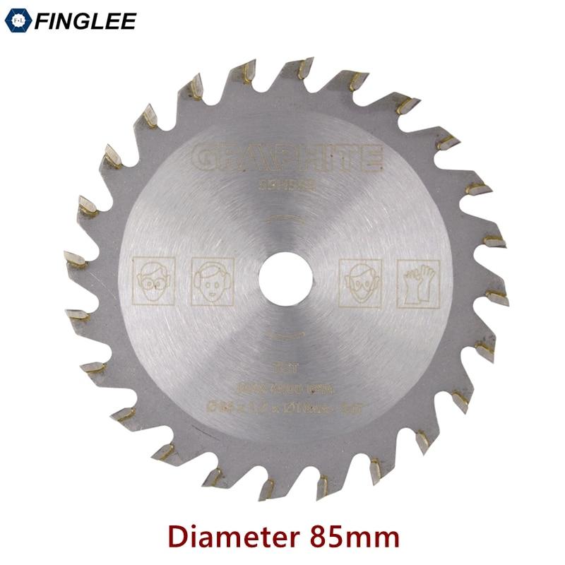 FINGLEE 1Pc 85mm TCT Woodworking Mini Circular Saw Blade Acrylic Plastic Cutting Blade General Purpose For Wood