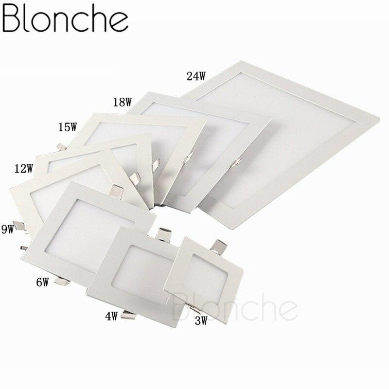 Blonche светодиодный потолочный светильник AC85~ 265 В панельный светильник круглый/квадратный 3W/6 Вт/9 Вт для гостиной спальни кухни Современный домашний декор светильник - Цвет корпуса: Square