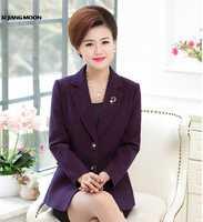 2019 Spring Autumn New Middle-Aged Women Plaid Suits & Blazers Slim OL Office Fashion Women Jacket High Quality Blazer R32