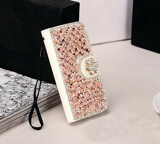 XINGDUO Flower Bling Diamonds Funda de cuero con tapa para iPhone7 / - Accesorios y repuestos para celulares - foto 6
