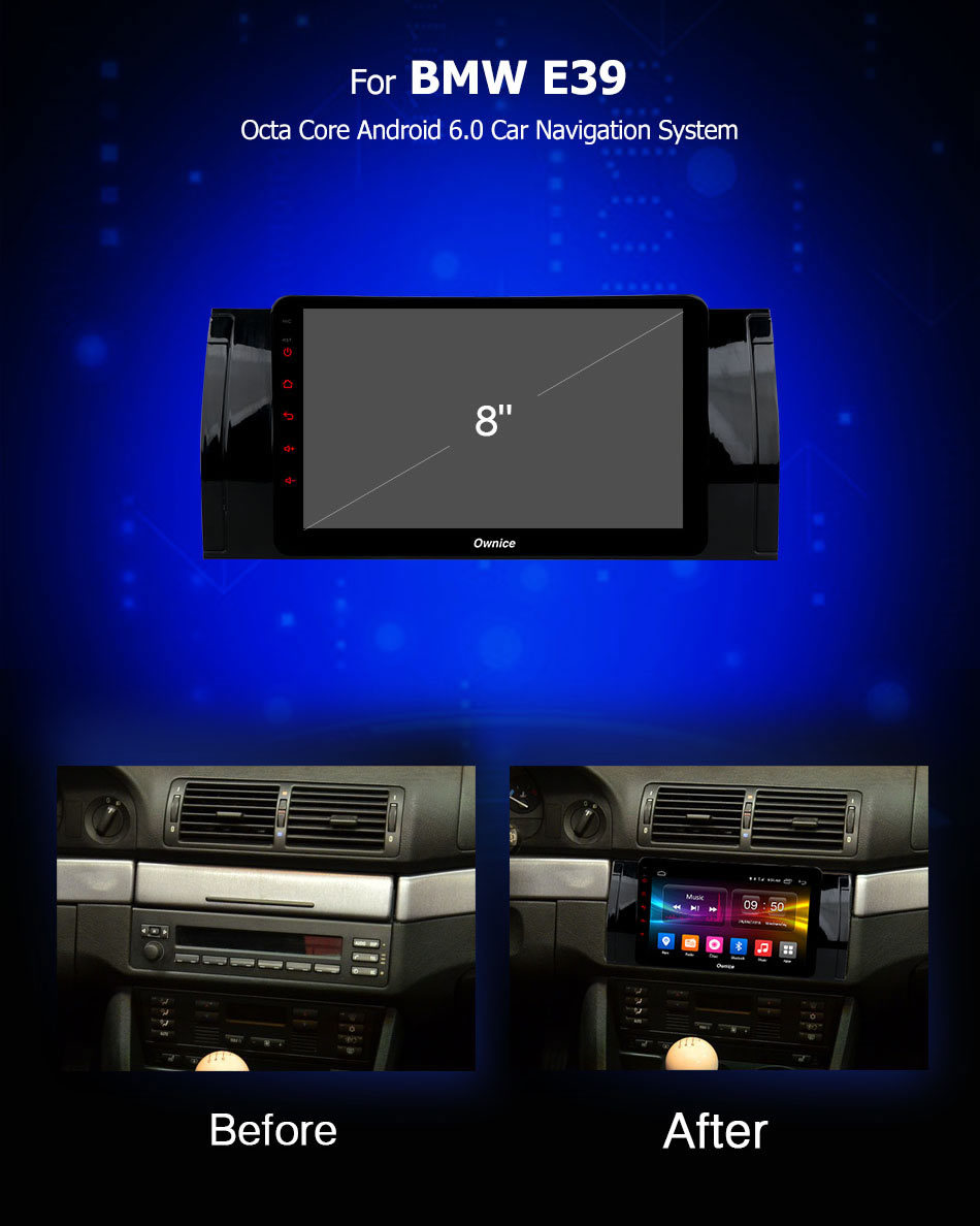 Discount Ownice C500+ G10 Octa Core android 8.1 Car DVD player 32G ROM  for bmw E39 GPS Radio RDS GPS Navi stereo player 2G ram 4G LTE 2