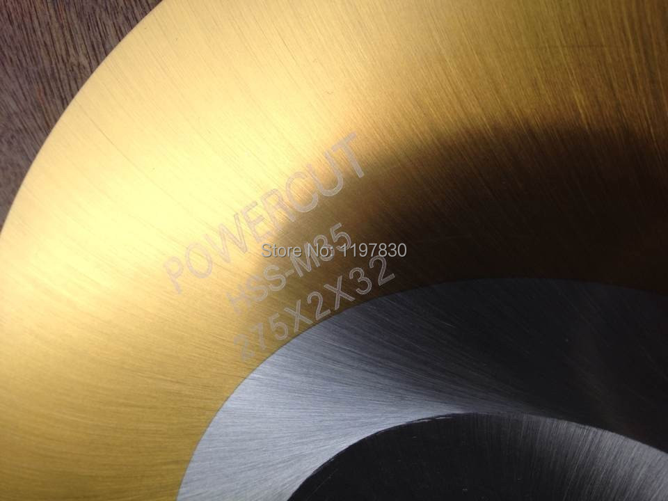Promotion of DM05/M2 hss slitting saw blades for cutting hard SS pipes long work span TIN coating 370*3.0*mm BW teeth profile  цены