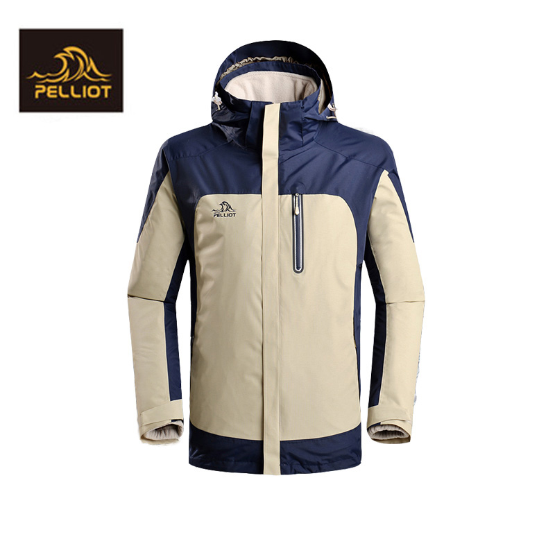 Free Shipping 2018 PELLIOT outdoors clothing for men and women, wind protection and breathable couples two piece jacket YKK zipp все цены