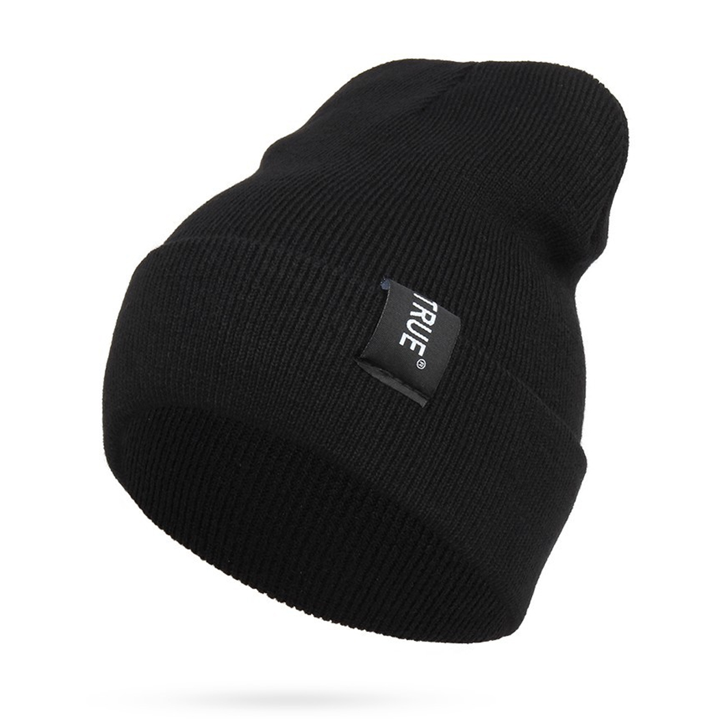 Men Women Warm Knit Skullies Bonnet Beanie Brand New Wool Winter Baggy Hat Solid Color Hip Hop Gorro Unisex Female Cap