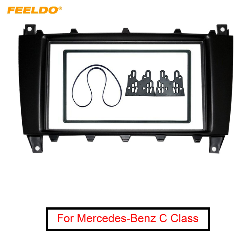 FEELDO Car 2Din DVD CD Radio Stereo Fascia Panel Frame Adaptor Fitting Kit For Mercedes Benz