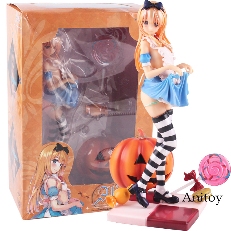 Anime Misaki Kurehito Action Figure Alice Pumpkin Girl LED Lights Clothes Detachable Scale 1/6 PVC Painted Collection Figure Toy anime hina sakura illustration by kurehito misaki 1 6 scale sexy adult limited edition pvc figure collectible model toy