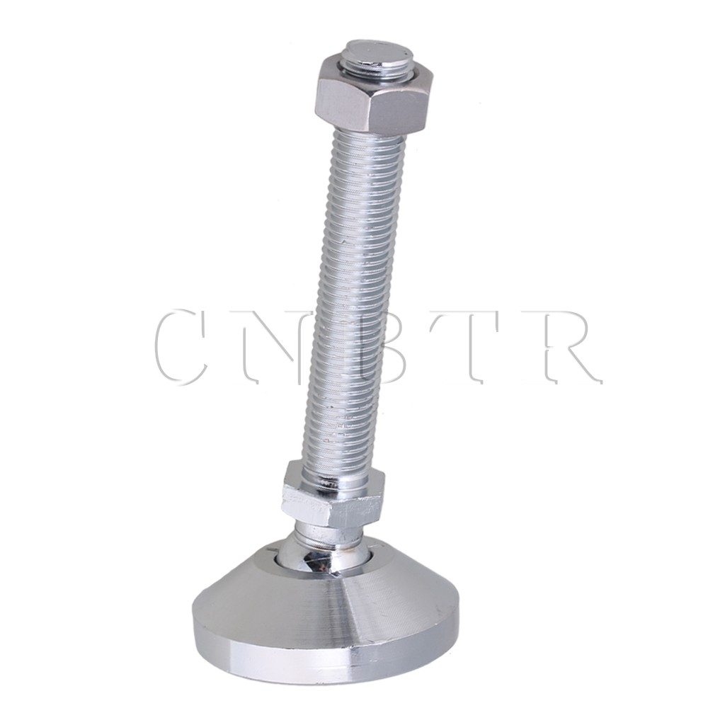 CNBTR 60mm Dia Carbon Steel Adjustable Joint Furniture Leveling Feet M16x100mm