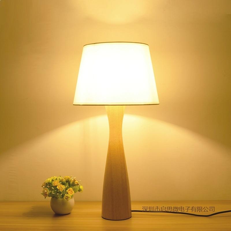 Creative Modern table lamp wooden base book lights desk ...