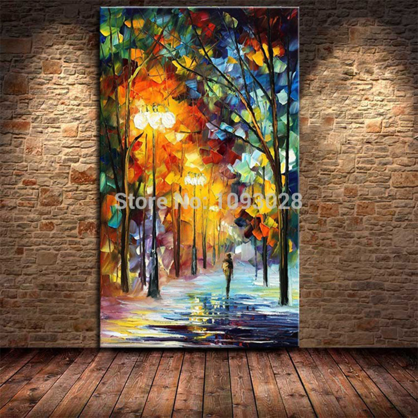 Ba oil painting hot sell palette knife modern textured for Abstract decoration